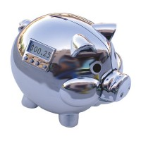 Pig E Bank Special Chrome Edition with LCD