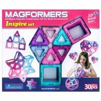 Magformers Inspire 30 pc Magnetic Building Set for Girls