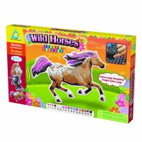 Sticky Mosaics Wild Horses Girls Craft Kit
