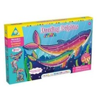 Sticky Mosaics Dazzling Dolphins Girls Craft Kit