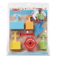 Sandblox Geometric Shapes 7 pc Sand Toy Set