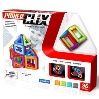 PowerClix 3D Magnetic 36 pc Building Kit