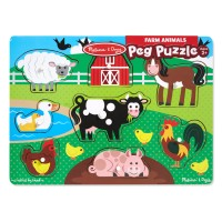 Farm Peg Wooden Puzzle