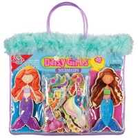 Daisy Girls Mermaids Magnetic Wooden Dress-Up Dolls