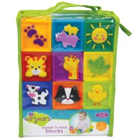 Squeak n Stack 9 pc Soft Baby Blocks Set