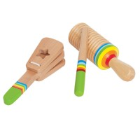 Rhythm Wooden Instruments Set for Toddlers