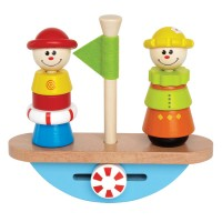 Balance Boat Wooden Stacking Play Set