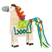 Lacing Pony Manipulative Activity Toy