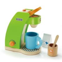 Coffee Maker 6 pc Wooden Play Set
