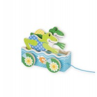 Friendly Frogs Wooden Pull Toy