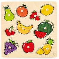 Fruit 10 pc Knob Wooden Puzzle