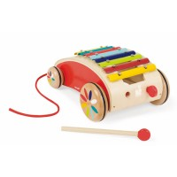 Xylo Roller Toddler Pull Toy Xylophone