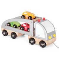 Multi Cars Truck Loader Wooden Pull Toy