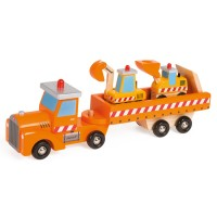 Story Construction Site Wooden Truck
