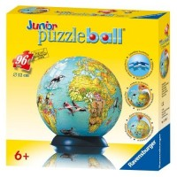 Wooden PuzGlobe 3D Educational Puzzle Globe