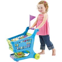 Kids Shopping Cart with Groceries Play Set