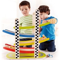 Racetrack Wooden Ramp Racer for Toddlers