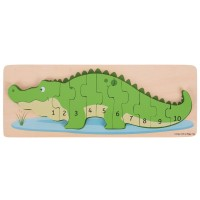 Crocodile Number 10 pc Wooden Puzzle