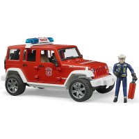 Bruder Jeep Rubicon Fire Rescue with Fireman Vehicle Set
