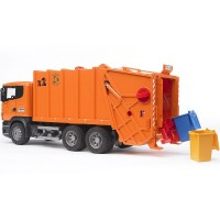 Bruder Scania R-Series  Orange Toy Garbage Truck