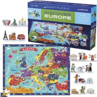 Discover Europe 100 US Map Puzzle & Play Set