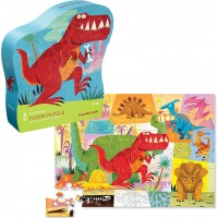 Dinosaur 36 pc Floor Puzzle in Shaped Box