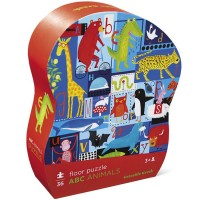 ABC Animals 36 pc Puzzle in Shaped Gift Box