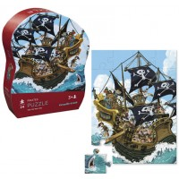 Pirates 24 pc Jigsaw Puzzle in Shaped Gift Box