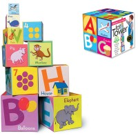 Alphabet & Numbers Tot Towers 10 Stacking Blocks Set