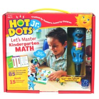 Hot Dots Jr. Let's Master Kindergarten Math 2 Books & Dog Pen Interactive Set