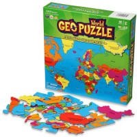 Geo Puzzle World - 68 pc Map Puzzle