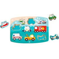 Emergency Vehicles 9 pc Peg Puzzle