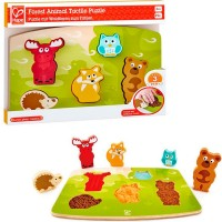 Forest Animal Tactile Puzzle 5 pc Touch & Feel Toy
