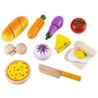 Chef's Choice 14 pc Cutting Food Wooden Play Set