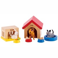 Family Pets 12 pc Wooden Play Set