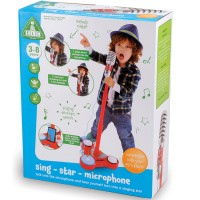 Sing Star Red Toy Microphone with Stand