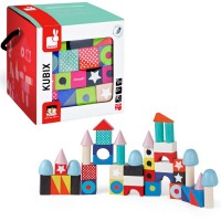 Wooden Building Blocks 50 pcs Set - Kubix Maxi - Janod