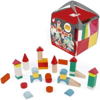 Kubix 40 pc Wooden Building Blocks & Mat Set