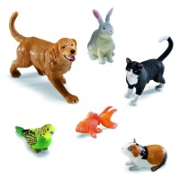 Jumbo Pets 6 pc Animal Figurines Playset