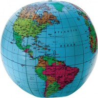 12 Inches Inflatable World Globe Ball