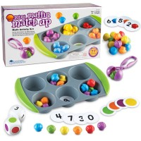 Mini Muffin Match up Math Learning Activity Set