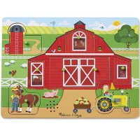 Around the Farm 8pc Sound Peg Puzzle