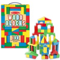 100 pc Wood Building Blocks Set