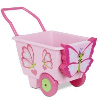 Cutie Pie Butterfly Pink Play Cart for Girls
