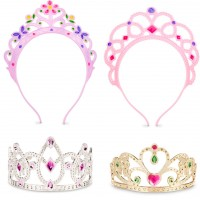Dress Up Tiaras 4 pc Princess Play Set