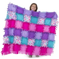 Created by Me! Flower Fleece Quilt Craft Kit