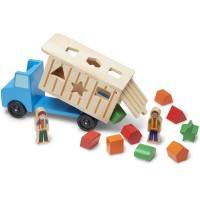 Shape Sorting Dump Truck Wooden Toy