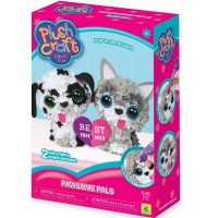 PlushCraft Pawsome Pals - Puppy & Kitten 3D Fabric Kit