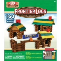 Frontier Logs 160 pc Wooden Classic Construction Set