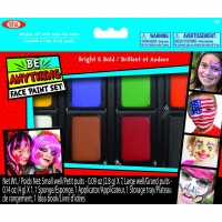 Be Anything Face Paint 8 Bright & Bold Colors Set